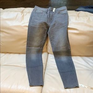 NWT madewell high riser skinny jeans gray 28